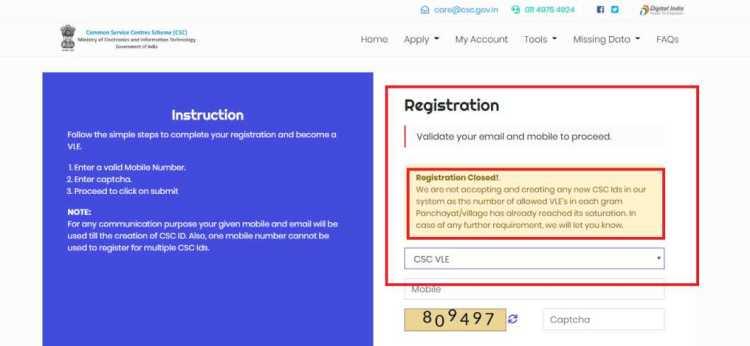 csc registration