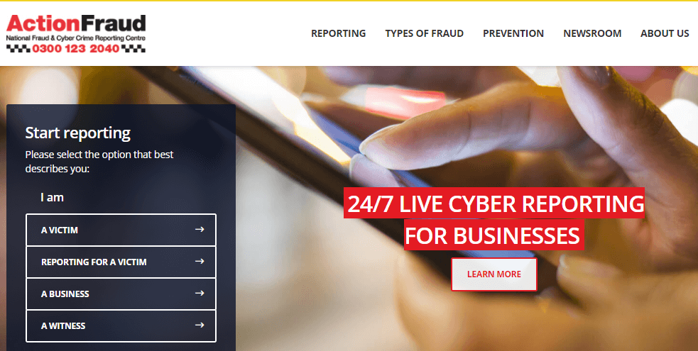Action For Fraud In Uk Cyber Crime Actionfraud Police Uk Onlinesrevicess