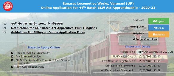 Railway BLW act apprentice