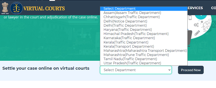 e challan payment in court