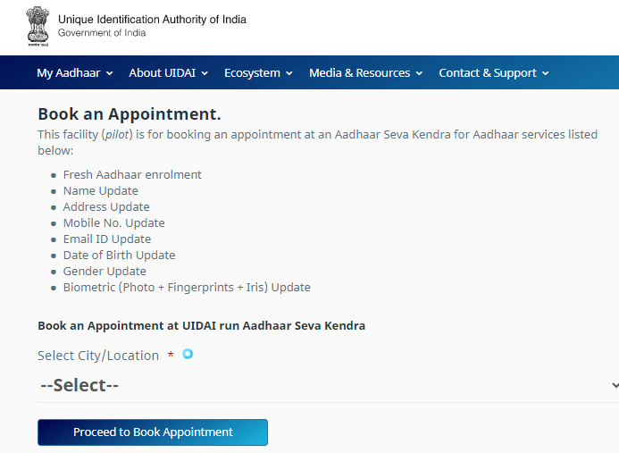 book an aapointment