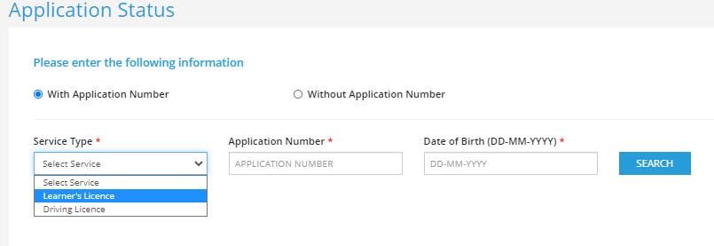 learner licence status ap