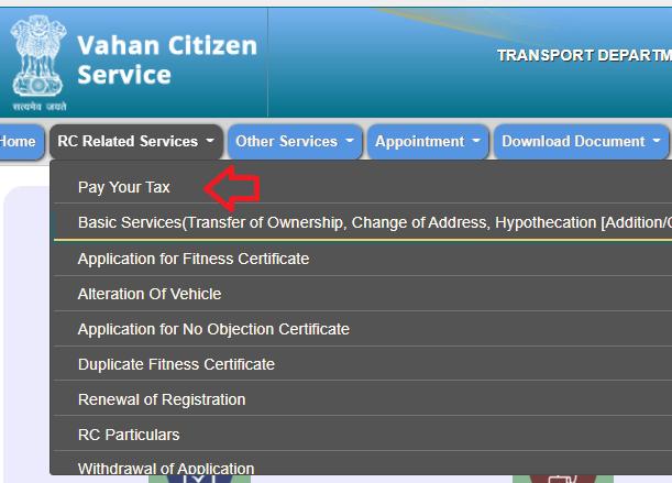 pay ta vehicle