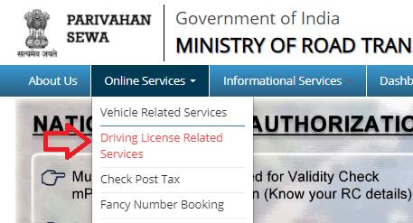 check driving licence status