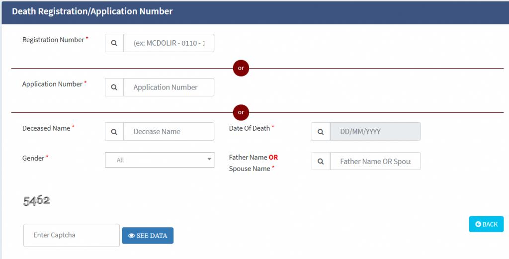 north delhi death certificate download